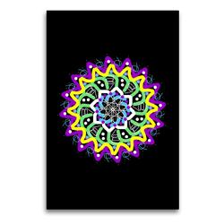 Premium Textil-Leinwand 60 x 90 cm Hoch-Format Mandalas Lichtfunken | Wandbild, HD-Bild auf Keilrahmen, Fertigbild auf hochwertigem Vlies, Leinwanddruck von Gabi Zapf