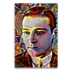 Premium Textil-Leinwand 60 x 90 cm Hoch-Format Rudolph Valentino | Wandbild, HD-Bild auf Keilrahmen, Fertigbild auf hochwertigem Vlies, Leinwanddruck von Garrulus glandarius