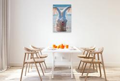 Premium Textil-Leinwand 60 x 90 cm Hoch-Format Schwäne, eindrucksvolle Größe | Wandbild, HD-Bild auf Keilrahmen, Fertigbild auf hochwertigem Vlies, Leinwanddruck von Peter Roder
