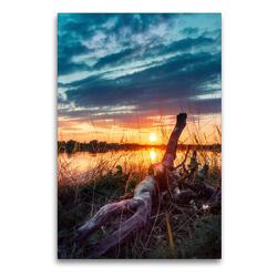 Premium Textil-Leinwand 60 x 90 cm Hoch-Format Sommerabende | Wandbild, HD-Bild auf Keilrahmen, Fertigbild auf hochwertigem Vlies, Leinwanddruck von Joseph Schulze
