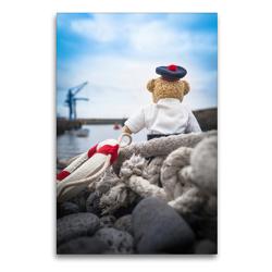 Premium Textil-Leinwand 60 x 90 cm Hoch-Format Teddybären Abenteuer – Zu Hause und Unterwegs | Wandbild, HD-Bild auf Keilrahmen, Fertigbild auf hochwertigem Vlies, Leinwanddruck von 75tiks