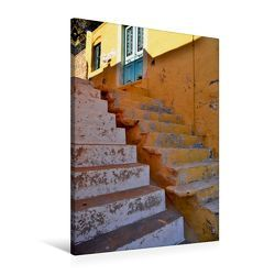 Premium Textil-Leinwand 60 x 90 cm Hoch-Format Treppen auf Rhodos | Wandbild, HD-Bild auf Keilrahmen, Fertigbild auf hochwertigem Vlies, Leinwanddruck von Ingo Laue von Laue,  Ingo