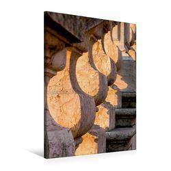 Premium Textil-Leinwand 60 x 90 cm Hoch-Format Treppenaufgang im Morgenlicht | Wandbild, HD-Bild auf Keilrahmen, Fertigbild auf hochwertigem Vlies, Leinwanddruck von Thomas Jäger