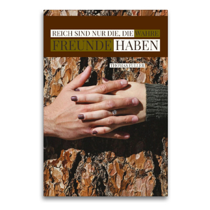 Premium Textil-Leinwand 60 x 90 cm Hoch-Format Wahre Freunde   Wandbild, HD-Bild auf Keilrahmen, Fertigbild auf hochwertigem Vlies, Leinwanddruck von Susan Michel