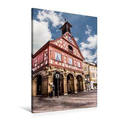 Premium Textil-Leinwand 60 x 90 cm Hoch-Format Waiblingen Marktplatz | Wandbild, HD-Bild auf Keilrahmen, Fertigbild auf hochwertigem Vlies, Leinwanddruck von Horst Eisele von Eisele,  Horst