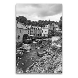 Premium Textil-Leinwand 60 x 90 cm Hoch-Format Wassermühle in Pont-Aven | Wandbild, HD-Bild auf Keilrahmen, Fertigbild auf hochwertigem Vlies, Leinwanddruck von Andreas Pidde
