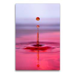 Premium Textil-Leinwand 60 x 90 cm Hoch-Format Watersplash | Wandbild, HD-Bild auf Keilrahmen, Fertigbild auf hochwertigem Vlies, Leinwanddruck von Linda Geisdorf