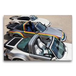 Premium Textil-Leinwand 75 x 50 cm Quer-Format 3 Buchmann Porsche | Wandbild, HD-Bild auf Keilrahmen, Fertigbild auf hochwertigem Vlies, Leinwanddruck von Roland Klinge