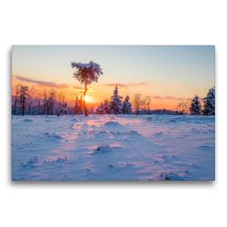 Premium Textil-Leinwand 75 x 50 cm Quer-Format Abendstimmung auf Kahlen Asten | Wandbild, HD-Bild auf Keilrahmen, Fertigbild auf hochwertigem Vlies, Leinwanddruck von Heidi Bücker