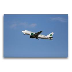 Premium Textil-Leinwand 75 x 50 cm Quer-Format Airbus A319-112 | Wandbild, HD-Bild auf Keilrahmen, Fertigbild auf hochwertigem Vlies, Leinwanddruck von Frank Gayde