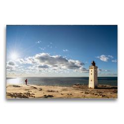 Premium Textil-Leinwand 75 x 50 cm Quer-Format Alter Leuchtturm Rubjerg Knude | Wandbild, HD-Bild auf Keilrahmen, Fertigbild auf hochwertigem Vlies, Leinwanddruck von Dieter Gödecke