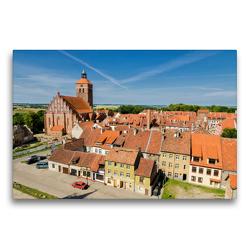 Premium Textil-Leinwand 75 x 50 cm Quer-Format Altstadt von Reszel   Wandbild, HD-Bild auf Keilrahmen, Fertigbild auf hochwertigem Vlies, Leinwanddruck von Oliver Nowak