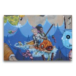 Premium Textil-Leinwand 75 x 50 cm Quer-Format Am Meer | Wandbild, HD-Bild auf Keilrahmen, Fertigbild auf hochwertigem Vlies, Leinwanddruck von SchnelleWelten