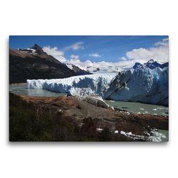 Premium Textil-Leinwand 75 x 50 cm Quer-Format Am Perito-Moreno-Gletscher | Wandbild, HD-Bild auf Keilrahmen, Fertigbild auf hochwertigem Vlies, Leinwanddruck von Flori0