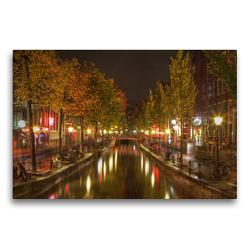 Premium Textil-Leinwand 75 x 50 cm Quer-Format Amsterdam – Rotlichtviertel | Wandbild, HD-Bild auf Keilrahmen, Fertigbild auf hochwertigem Vlies, Leinwanddruck von TJPhotography (Thorsten Jung)