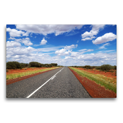 Premium Textil-Leinwand 75 x 50 cm Quer-Format Australiens unendliche Weite | Wandbild, HD-Bild auf Keilrahmen, Fertigbild auf hochwertigem Vlies, Leinwanddruck von Flori0