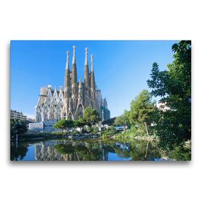 Premium Textil-Leinwand 75 x 50 cm Quer-Format Barcelona, Sagrada Familia | Wandbild, HD-Bild auf Keilrahmen, Fertigbild auf hochwertigem Vlies, Leinwanddruck von N N
