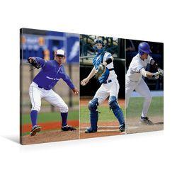 Premium Textil-Leinwand 75 x 50 cm Quer-Format Baseball Impressionen | Wandbild, HD-Bild auf Keilrahmen, Fertigbild auf hochwertigem Vlies, Leinwanddruck von Renate Bleicher von Bleicher,  Renate