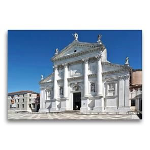 Premium Textil-Leinwand 75 x 50 cm Quer-Format Basilika San Giorgio Maggiore in Venedig, Italien | Wandbild, HD-Bild auf Keilrahmen, Fertigbild auf hochwertigem Vlies, Leinwanddruck von Marion Meyer © Stimmungsbilder1