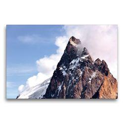Premium Textil-Leinwand 75 x 50 cm Quer-Format Berggipfel der La Meije | Wandbild, HD-Bild auf Keilrahmen, Fertigbild auf hochwertigem Vlies, Leinwanddruck von Jürgen Feuerer
