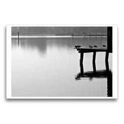 Premium Textil-Leinwand 75 x 50 cm Quer-Format Bilder vom See | Wandbild, HD-Bild auf Keilrahmen, Fertigbild auf hochwertigem Vlies, Leinwanddruck von Martina Marten