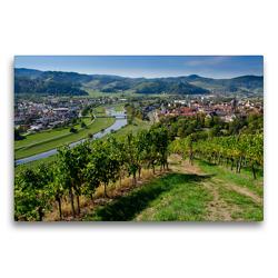 Premium Textil-Leinwand 75 x 50 cm Quer-Format Blick auf Gengenbach | Wandbild, HD-Bild auf Keilrahmen, Fertigbild auf hochwertigem Vlies, Leinwanddruck von Tanja Voigt