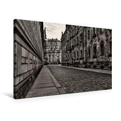 Premium Textil-Leinwand 75 x 50 cm Quer-Format Blick in die Augustusstraße   Wandbild, HD-Bild auf Keilrahmen, Fertigbild auf hochwertigem Vlies, Leinwanddruck von Dirk Meutzner