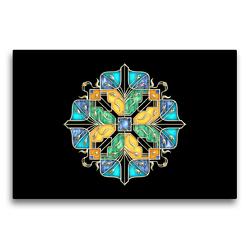 Premium Textil-Leinwand 75 x 50 cm Quer-Format Blumengarten | Wandbild, HD-Bild auf Keilrahmen, Fertigbild auf hochwertigem Vlies, Leinwanddruck von Lucia
