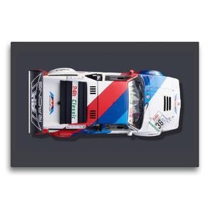 Premium Textil-Leinwand 75 x 50 cm Quer-Format BMW M1 Procar, 1979 | Wandbild, HD-Bild auf Keilrahmen, Fertigbild auf hochwertigem Vlies, Leinwanddruck von Bernhard Schmerl