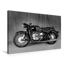 Premium Textil-Leinwand 75 x 50 cm Quer-Format BMW R69S in schwarzweiss | Wandbild, HD-Bild auf Keilrahmen, Fertigbild auf hochwertigem Vlies, Leinwanddruck von Ingo Laue von Laue,  Ingo