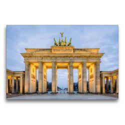 Premium Textil-Leinwand 75 x 50 cm Quer-Format Brandenburger Tor Berlin | Wandbild, HD-Bild auf Keilrahmen, Fertigbild auf hochwertigem Vlies, Leinwanddruck von Michael Valjak