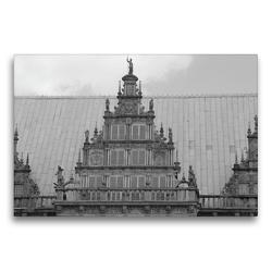 Premium Textil-Leinwand 75 x 50 cm Quer-Format Bremer Rathaus | Wandbild, HD-Bild auf Keilrahmen, Fertigbild auf hochwertigem Vlies, Leinwanddruck von kattobello