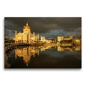 Premium Textil-Leinwand 75 x 50 cm Quer-Format Brunei | Wandbild, HD-Bild auf Keilrahmen, Fertigbild auf hochwertigem Vlies, Leinwanddruck von Peter Schickert