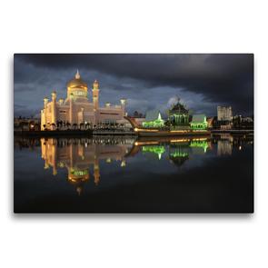 Premium Textil-Leinwand 75 x 50 cm Quer-Format Brunei   Wandbild, HD-Bild auf Keilrahmen, Fertigbild auf hochwertigem Vlies, Leinwanddruck von Peter Schickert