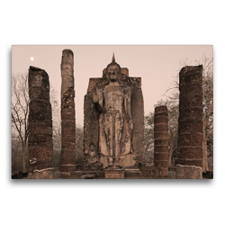 Premium Textil-Leinwand 75 x 50 cm Quer-Format Buddha Statue, Wat Sapham Him, Sukhothai Historical Park, Sukhothai | Wandbild, HD-Bild auf Keilrahmen, Fertigbild auf hochwertigem Vlies, Leinwanddruck von Christian Heeb