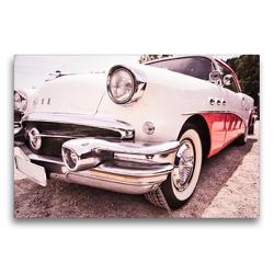 Premium Textil-Leinwand 75 x 50 cm Quer-Format Buick, US amerikanischer V8 | Wandbild, HD-Bild auf Keilrahmen, Fertigbild auf hochwertigem Vlies, Leinwanddruck von Holger Gräbner