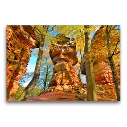 Premium Textil-Leinwand 75 x 50 cm Quer-Format Buntsandsteintürme | Wandbild, HD-Bild auf Keilrahmen, Fertigbild auf hochwertigem Vlies, Leinwanddruck von LianeM