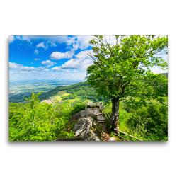 Premium Textil-Leinwand 75 x 50 cm Quer-Format Burgruine oberhalb von Sasbachwalden | Wandbild, HD-Bild auf Keilrahmen, Fertigbild auf hochwertigem Vlies, Leinwanddruck von Tanja Voigt