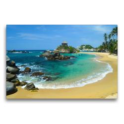Premium Textil-Leinwand 75 x 50 cm Quer-Format Cabo San Juan im Tayrona NP, Kolumbien | Wandbild, HD-Bild auf Keilrahmen, Fertigbild auf hochwertigem Vlies, Leinwanddruck von Frederik Schwall