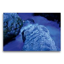Premium Textil-Leinwand 75 x 50 cm Quer-Format Cascades du Sautadet   Wandbild, HD-Bild auf Keilrahmen, Fertigbild auf hochwertigem Vlies, Leinwanddruck von Katja ledieS