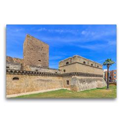 Premium Textil-Leinwand 75 x 50 cm Quer-Format Castello Svevo di Bari | Wandbild, HD-Bild auf Keilrahmen, Fertigbild auf hochwertigem Vlies, Leinwanddruck von ReDi Fotografie