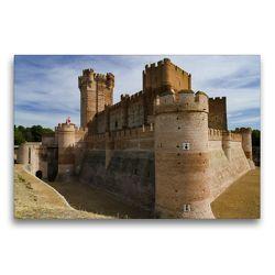 Premium Textil-Leinwand 75 x 50 cm Quer-Format Castillo de la Mota   Wandbild, HD-Bild auf Keilrahmen, Fertigbild auf hochwertigem Vlies, Leinwanddruck von Andreas Schön