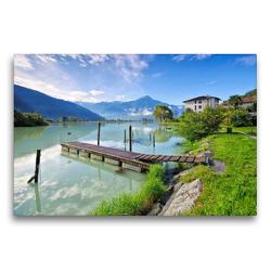 Premium Textil-Leinwand 75 x 50 cm Quer-Format Comer See | Wandbild, HD-Bild auf Keilrahmen, Fertigbild auf hochwertigem Vlies, Leinwanddruck von LianeM