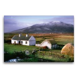 Premium Textil-Leinwand 75 x 50 cm Quer-Format Cottage auf Achill | Wandbild, HD-Bild auf Keilrahmen, Fertigbild auf hochwertigem Vlies, Leinwanddruck von N N