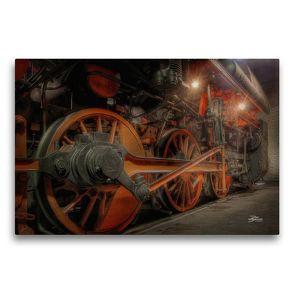 Premium Textil-Leinwand 75 x 50 cm Quer-Format Dampfgestänge | Wandbild, HD-Bild auf Keilrahmen, Fertigbild auf hochwertigem Vlies, Leinwanddruck von Danny Elskamp-D.Elskamp Photography