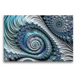 Premium Textil-Leinwand 75 x 50 cm Quer-Format Das blaue Federkleid | Wandbild, HD-Bild auf Keilrahmen, Fertigbild auf hochwertigem Vlies, Leinwanddruck von Claudia Burlager