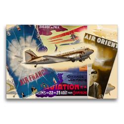 Premium Textil-Leinwand 75 x 50 cm Quer-Format DC-3   Wandbild, HD-Bild auf Keilrahmen, Fertigbild auf hochwertigem Vlies, Leinwanddruck von Alois J. Koller