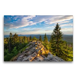 Premium Textil-Leinwand 75 x 50 cm Quer-Format Der Bayerische Wald | Wandbild, HD-Bild auf Keilrahmen, Fertigbild auf hochwertigem Vlies, Leinwanddruck von Prime Selection