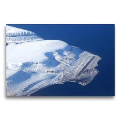 Premium Textil-Leinwand 75 x 50 cm Quer-Format Der Flughafen von Longyearbyen auf Spitzbergen   Wandbild, HD-Bild auf Keilrahmen, Fertigbild auf hochwertigem Vlies, Leinwanddruck von Rainer Spoddig