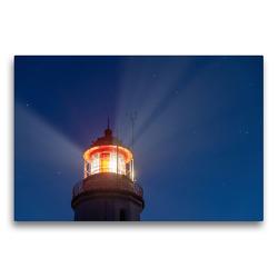 Premium Textil-Leinwand 75 x 50 cm Quer-Format Der Leuchtturm von Hiddensee weist den Seeleuten den Weg | Wandbild, HD-Bild auf Keilrahmen, Fertigbild auf hochwertigem Vlies, Leinwanddruck von Stephan Schulz